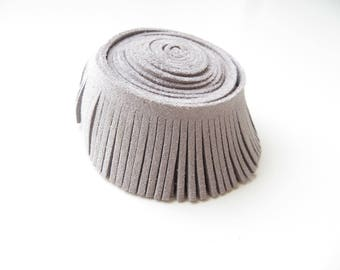 29mm gray suede fringe Ribbon 20cm