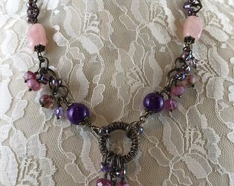 Statement Necklace, Assemblage Necklace, Handcrafted Necklace,  One of a Kind Necklace
