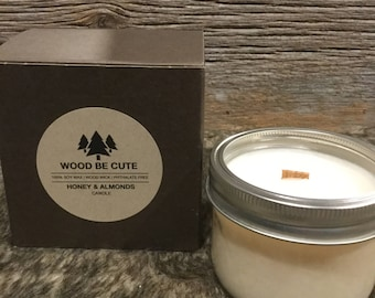 Honey and Almonds 100% soy wax candle