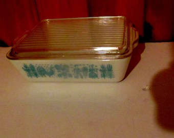 pyrex amish butterprint large refrigerator covered dish