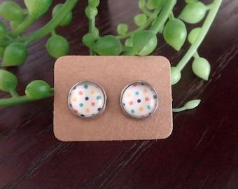 Polka Dot 10mm Stud Earrings