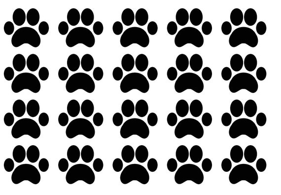 30 paw print vinyl stickers paw party stickers aniaml theme sticker tags cup decals dog paw envelope seal party decor removable decal from suzannasart