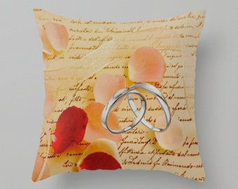 Romance is for year round. Rings, roses and ribbon.  indoor or out, it is beautiful and a bright spot of color