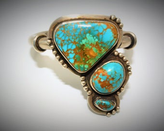 Kingman Mine Turquoise and Sterling Silver Bracelet
