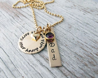 Loss of Loved One, Memorial Jewelry, Miscarriage Necklace, Loss of Parent, i carry your heart with me