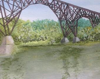 Steel Bridge Card