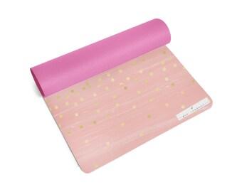 Fit Couture Yoga Mat Blush Pink & Confetti