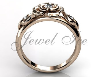 Flower engagement ring etsy quick view flower engagement ring junglespirit Images