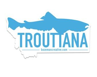 Trouttanna - Montana Trout Fishing Sticker