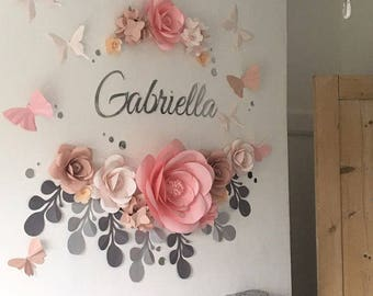 Paper flowers guest book alternative by miogallery on etsy baby room flower arrangement baby room paper flowers nursery paper flowers paper flowers mightylinksfo Image collections