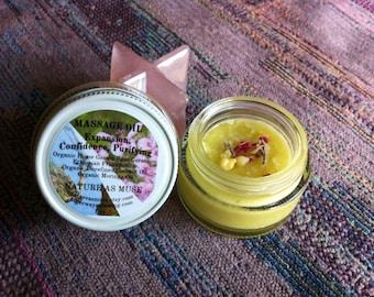 Organic Massage Oil- Rose Geranium and Frankincense
