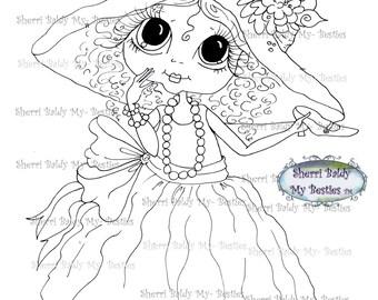 INSTANT DOWMLOAD Digital Digi Stamps Big Eye Big Head Dolls Digi Img069 Best Besties Forever By Sherri Baldy