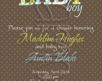 25 5x7 Baby Boy Shower Invitations