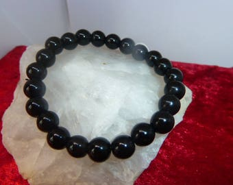 Genuine black Obsidian gemstone bracelet