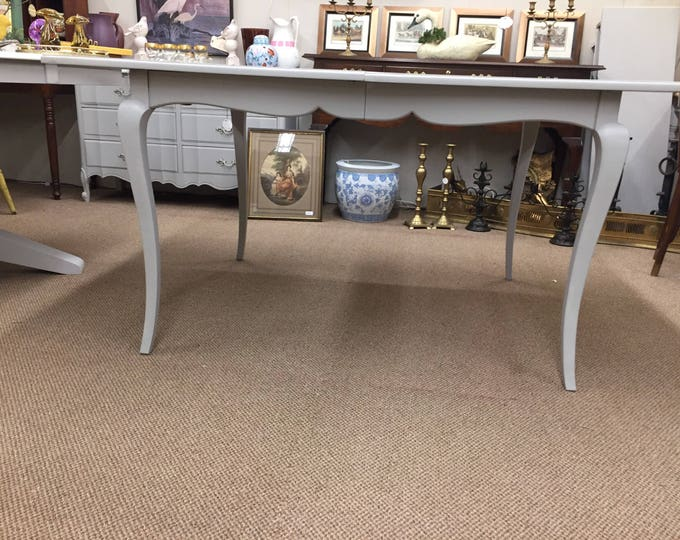 Vintage French Country Grey Painted Table