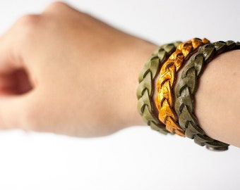 Leather Bracelet Set / The Saguaros / Arizona