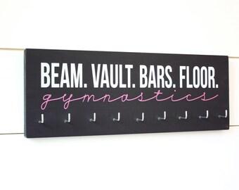Gymnast Medal Holder / Display - Beam Vault Bar Floor Gymnastics - Medium