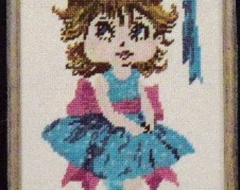 """Counted Cross Stitch Kit. """" Young Girl Pattern Kit """". HB4031 Kit."""