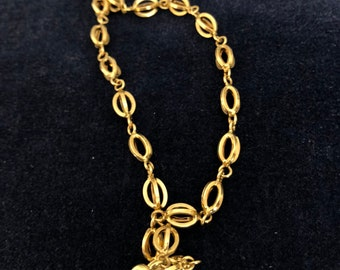 Vintage 14k fany chain link necklace