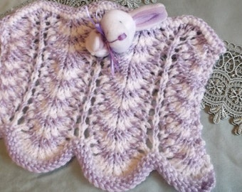 small blanket for baby with little bunny head.