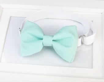 Mint Green bow-tie - Mint bow tie - Wedding bow tie - Adult bow tie - Baby bow tie - Kids bow tie