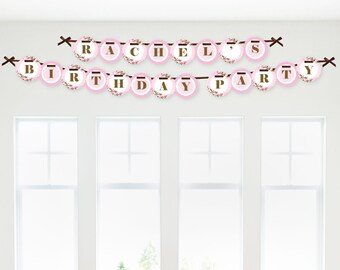 Cherry Blossom Garland Banner - Custom Baby Shower, Birthday Party or Bridal Shower Decorations