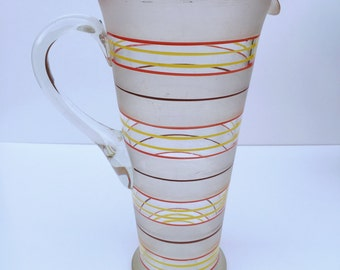 Vintage Striped Glass Jug