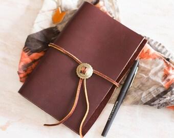 Leder, Journal, Leder Binder, Leder-Notebook, Refillable, gefüttert A6 Größe