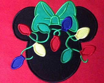 Disney Christmas Lights Minnie - Personalized - Adult,  Disney Merrytime cruise