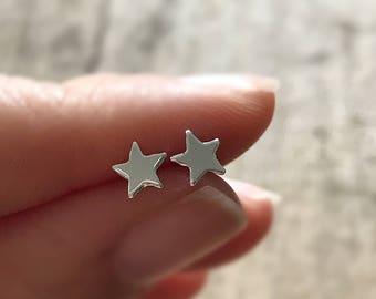 Star Earrings, Celestial Jewelry, Sterling Silver Post, Push Back, Sterling Silver Stud, Bohemian Earrings, Bohemian Jewelry