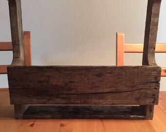Rustic Reclaimed Pallet Wood Wine Rack