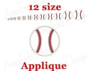 Baseball Applique Embroidery Design. Mini Baseball. Softball design. Baseball ball embroidery. Machine embroidery design. Sport embroidery