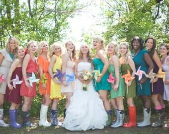Paper Pinwheels Wedding Pinwheel Large Size Pinwheel Custom Paper Pinwheels Custom Wedding Pinwheels Twirling Pinwheels Spinning Pinwheels