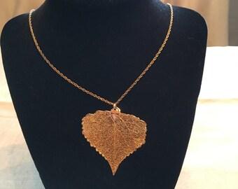 Gold filled leaf