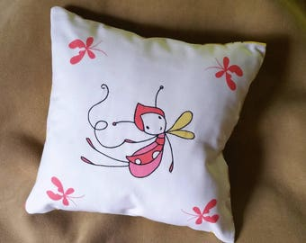 Quilted Wimsy Butterfly Pillow / Handmade