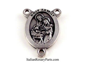 Holy Family Rosary Center Medal Manger Scene | Italian Rosary Parts