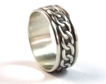 Pattern Ring, Patterned Ring, Men's Ring, Silver Ring, Mens Jewelry, Gift for Men, Thumb Ring, Mens Gifts, Boyfriend Gift, Gift for Him