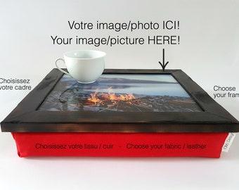 PERSONALIZED LapDesk, LapTray, LapPad, Laptop Table, Portable Desk, Pillow Desk, TV Tray, Cushion Tray