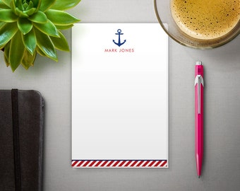 Personalized Notepad - To Do List - Custom Notepad with Nautical Anchor - 100 SHEETS!
