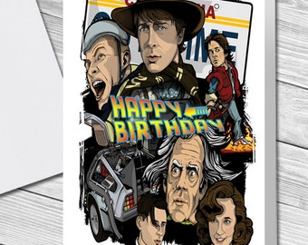 Back To The Future Trilogy Birthday Card