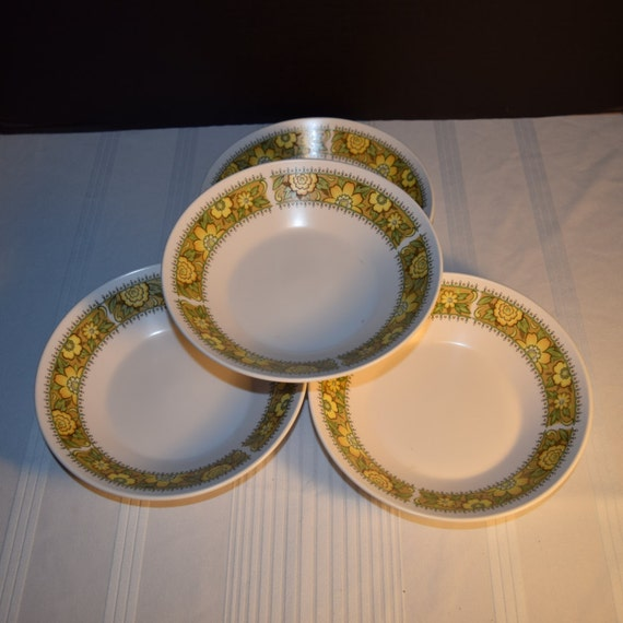 Noritake Progression Festival 4 Coupe Soup Bowls Vintage Bowls Set of 4 Cereal Hard to Find 1970s Noritake Replacement Discontinued China