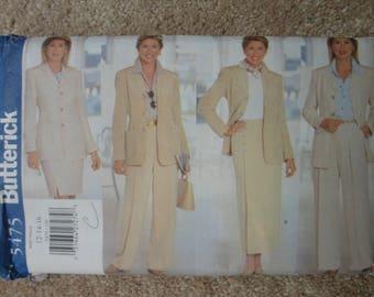 Butterick 5475 Ladies  skirt/trouser/jacket ensemble   Size 12-14-16  1998
