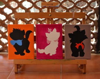 The Aristocats-Bizet Minou Matisse-painting on canvas-acrylics-inspired by Disney