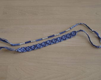 Friendship Bracelet, friendship, grey and blue bracelet