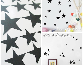 "Stickers black decoration stars ""Girly Rock"""