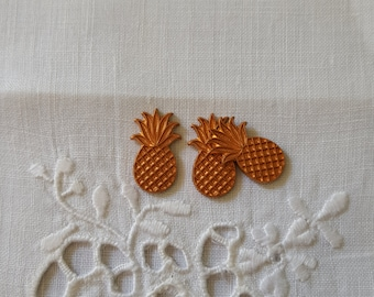 Vintage Brass Pineapple Charms