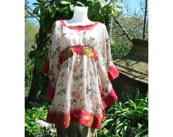 Felt Dress,Felt Tunic,Merino Wool Dress,European Design,Floriated Dress,Merino Wool Felt Dress,Art Deco ,Woman Gift
