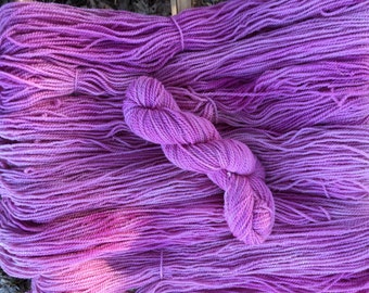 Natural Cochineal Hand-dyed Romney yarn, DK weight