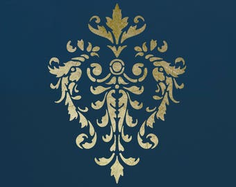 Damask Stencil for Walls ST19