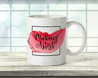 Personalised Mug 'Makeup Artist' Pretty Pastel Colours